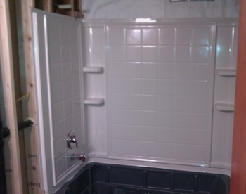 shower and tub installation